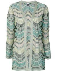 M Missoni - Stripe Knit Glitter Cardigan - Lyst