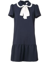RED Valentino Tied Collar Mini Dress