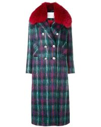 Giada Benincasa - Checked Long Coat - Lyst