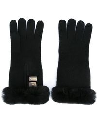 N.Peal Cashmere - - Fur Trim Gloves - Women - Rabbit Fur/cashmere - One Size - Lyst