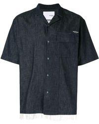 Yoshiokubo Denim Camp Collar Shirt