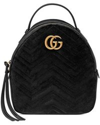 d5ade3e8e97d Lyst - Gucci GG Marmont Quilted Leather Backpack in Black