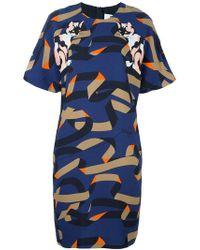 MSGM - Cat Print Shift Dress - Lyst