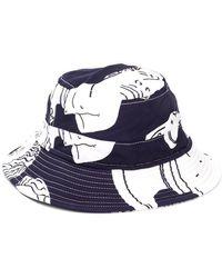 bfa9d434ce511 Gosha Rubchinskiy. White Adidas Beanie.  45. SVMOSCOW · Band of Outsiders -  Hawaiian Print Bucket Hat - Lyst