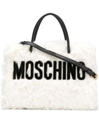 Moschino - Small Textured Logo Tote - Lyst
