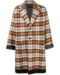 Prada - Oversized Single Breasted Coat - Lyst