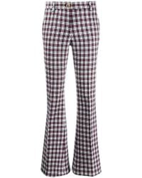Tommy Hilfiger - Plaid Flared Trousers - Lyst