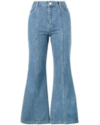 Sandy Liang - Tinder Flared Jeans - Lyst