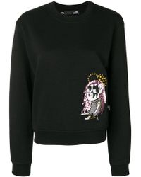 Love Moschino - Embroidered Long-sleeve Sweater - Lyst