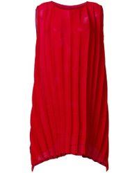 Issey Miyake Cauliflower - Textured Stripe Sack Dress - Lyst