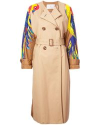 Tsumori Chisato - Sleeve Print Double-breasted Coat - Lyst