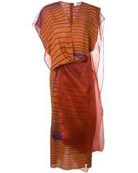 Chalayan - Kleid im Layering-Look - Lyst