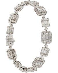 Gemco - 18kt White Gold And Diamond Bracelet - Lyst