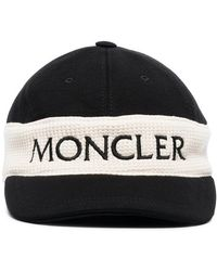 294f3a6dca82c6 Moncler - Black And White Logo Cap - Lyst