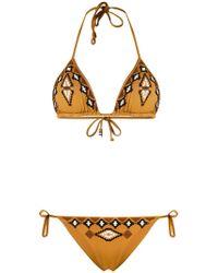 Fisico - Embroidered Pattern Bikini - Lyst