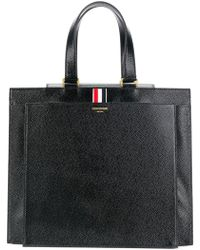Thom Browne - Lucido Leather Accordion Tote Bag - Lyst