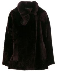32 Paradis Sprung Freres - Fur-lined Fitted Coat - Lyst