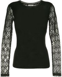Nina Ricci - Slim-fit Lace Detail Sweatshirt - Lyst