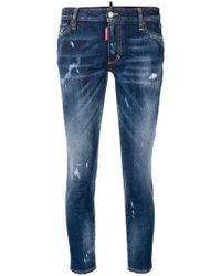 DSquared² - 'Runway' Cropped-Skinny-Jeans - Lyst