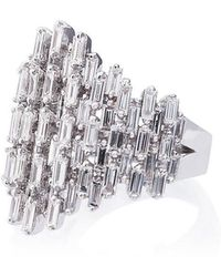 Suzanne Kalan - 18k White Gold And Diamond Renaissance Ring - Lyst