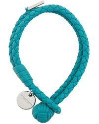 Bottega Veneta - Aqua Intrecciato Nappa Bracelet - Lyst