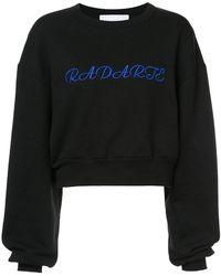 Rodarte - Cropped Logo Sweatshirt - Lyst