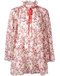 Giamba - Floral-printed Cotton Dress - Lyst