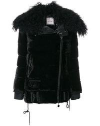 Moncler - Isabelle Velvet Padded Jacket - Lyst