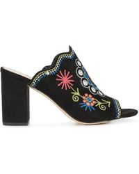 Sam Edelman - Embroidered Mules - Lyst