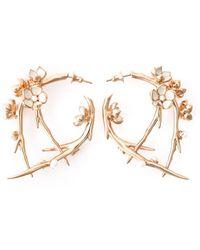 Shaun Leane 'cherry Blossom' Diamond Earrings - Pink