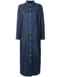 Maison Kitsuné - Boxy Shirt Dress - Lyst