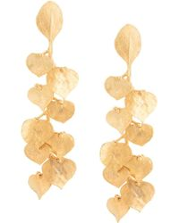 Kenneth Jay Lane - Leaf Drop Earrings - Lyst