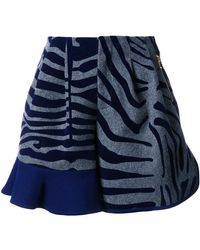 Kolor - Animal Print Ruffle Shorts - Lyst