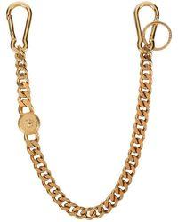 Versace - Llavero con cadena y diseño bizantino - Lyst