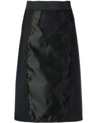 2e7755e6 Falda de piel sintética grabada MSGM de color Negro - Lyst