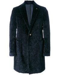 Gabriele Pasini - Shearling Single Breasted Coat - Lyst