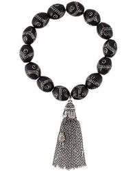 Loree Rodkin - Pavé Diamond Bead Tassel Bracelet - Lyst