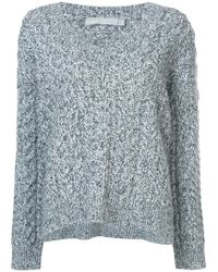 Vince - V-neck Cable Knit Jumper - Lyst