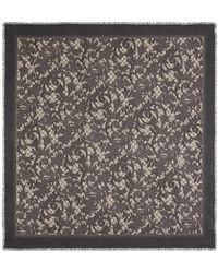 Gucci - Arabesque Print Modal Silk Shawl - Lyst