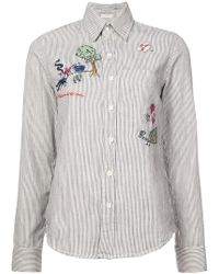 Mother - Striped Embroidered Shirt - Lyst