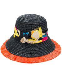 Etro Floral strap hat - Multicolore