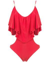 Brigitte Bardot - Ruffled Bodysuit - Lyst