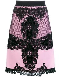 Fausto Puglisi - Lace Embroidered Midi Skirt - Lyst