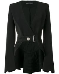 David Koma - Belted Cropped Jacket - Lyst