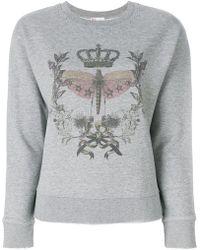 RED Valentino - Printed Front Sweatshirt - Lyst