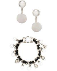 Camila Klein - Embellished Earrings And Bracelet Set - Lyst