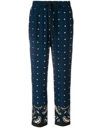 RED Valentino - Printed Drawstring Trousers - Lyst