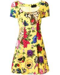 Philipp Plein - Floral Print Mini Dress - Lyst
