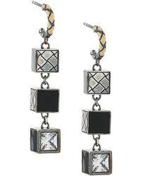 Bottega Veneta - Three-tier Cubic Earrings - Lyst