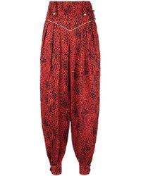 Alessandra Rich - Pantalones estilo harén con estampado de leopardo - Lyst